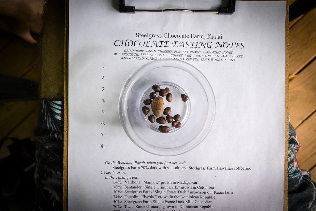 the chocolate tasting was a highlight of the tour, obviously