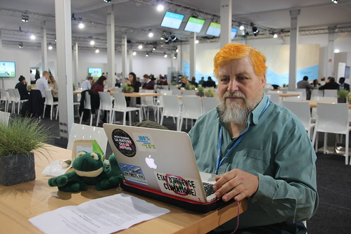 Kermit and John Englart working at COP23 - IMG_1881
