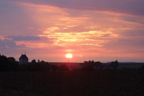 Sonnenuntergang über Prosselsheim