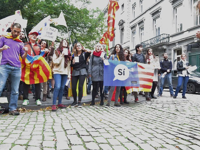 Solidariteit met beweging in Catalonië // Foto's en video's door Mario
