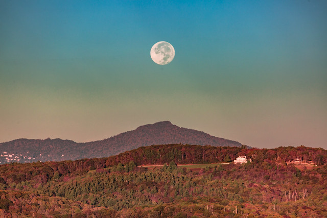 Blue Ridge Mountains Harvest Moon