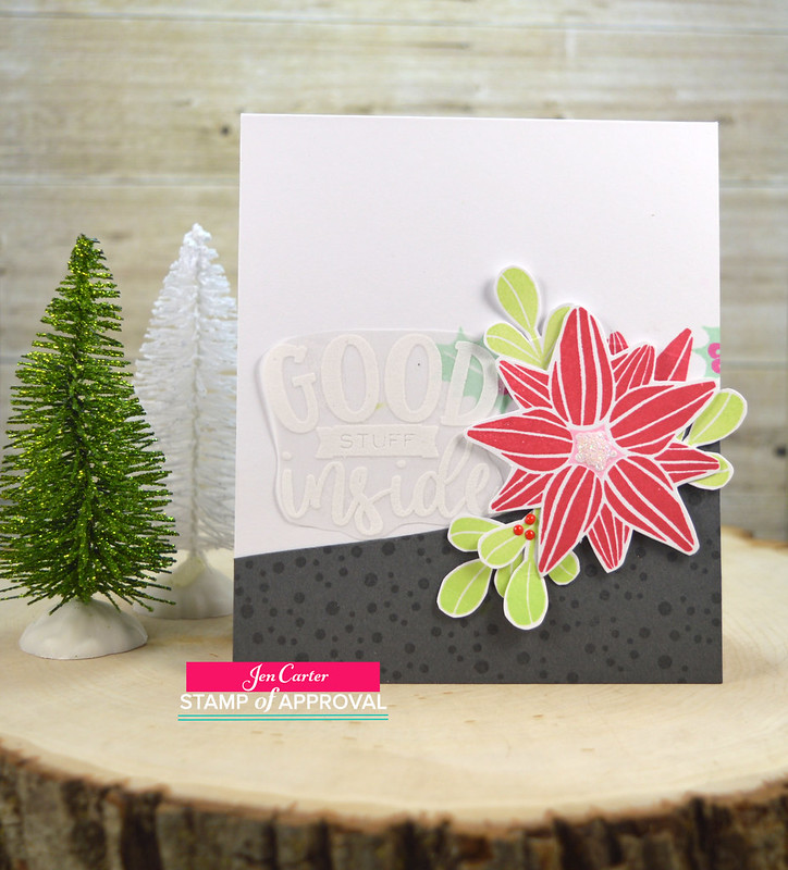 Jen Carter CP Good Stuff Inside Gift Card Poinsettia 2wm