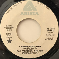RAY PARKER JR. & RAYDIO:A WOMAN NEEDS LOVE(JUST LIKE YOU DO)(LABEL SIDE-A)