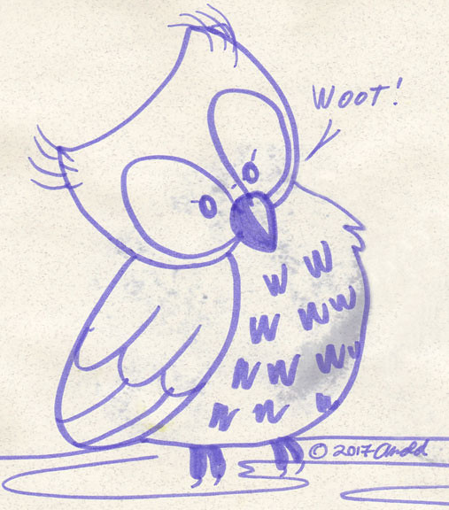 Day 20: Smudgy Lil' Owl Friend