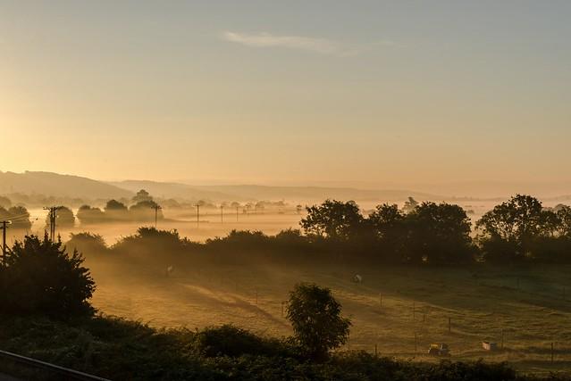 Daybreak over Tickenham Moor