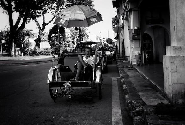 Life of a rickshaw puller