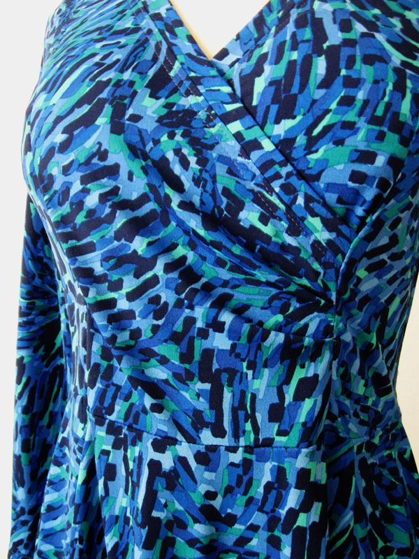 Pauline Alice Patterns Aldaia blue dress dress wrap front