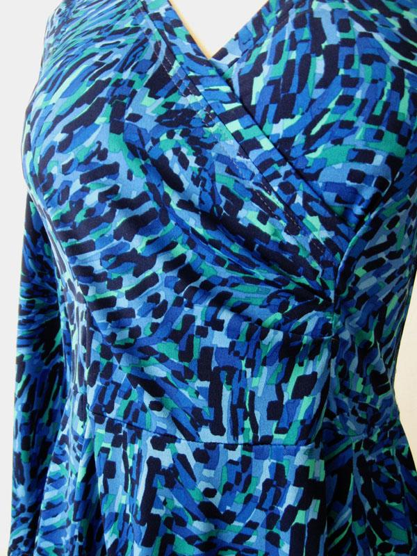 Pauline Alice Patterns Aldaia blue dress dress wrap front