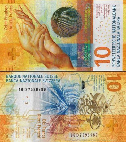 10 frankov Švajčiarsko 2017, P75