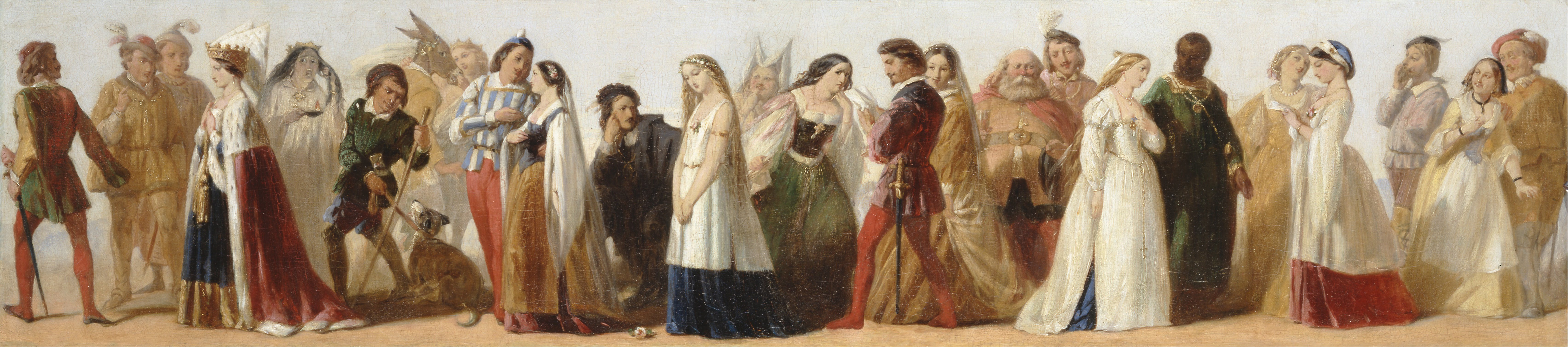 Procession of Characters from Shakespeare's Plays by an unknown 19th-century artist (manner of Thomas Stothard), circa 1840.