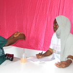 nurse engaging in individual counselling