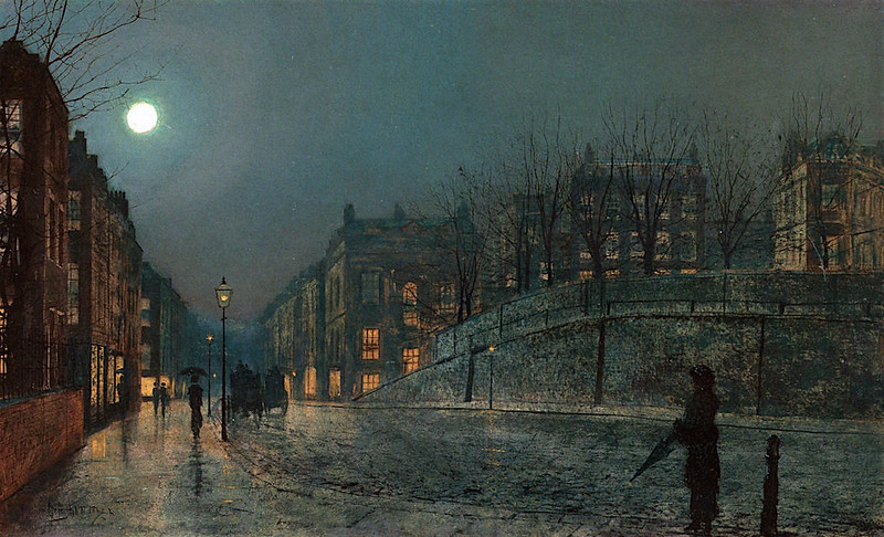 Heath Street, Hampstead by John Atkinson Grimshaw, 1882