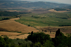 The landscape of Valdorcia