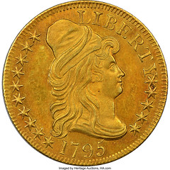 1795 BD-3 Small Eagle Five Dollar obverse