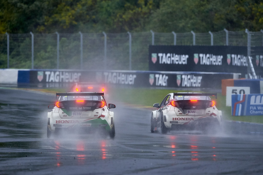 during the 2017 FIA WTCC World Touring Car Championship at Ningbo, China, October 13 to 15 - Photo David Noels / DPPI MAC3, Honda Civic, Norbert Michelisz, Gabriele Tarquini, Ryo Michigami