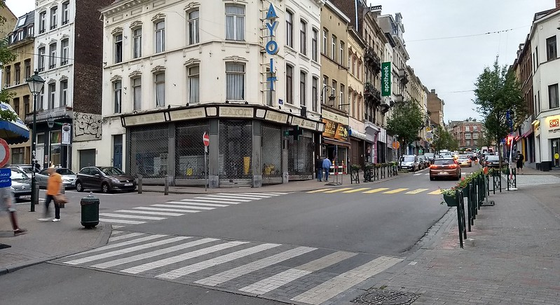 Zebra crossings in Brussels