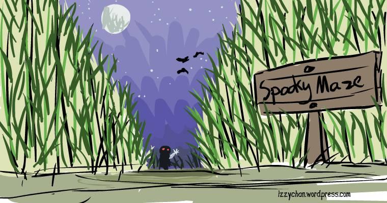 drawlloween spooky corn maze
