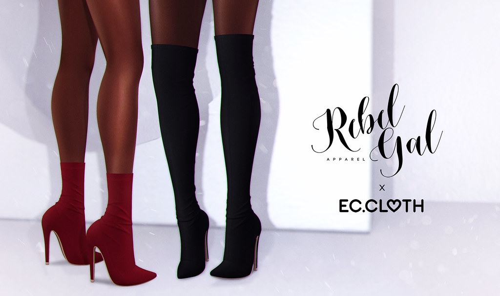 Rebel Gal x Ec.cloth – Tamsin Thigh Boots @Uber