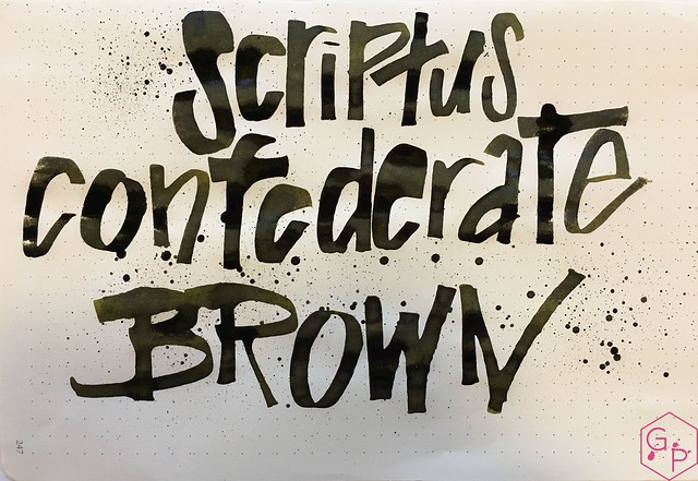Ink Shot Review Scriptus 2017 x KWZI 150 Confederate Brown 13