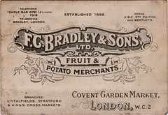 F.C Bradley & Sons Ltd Business Card