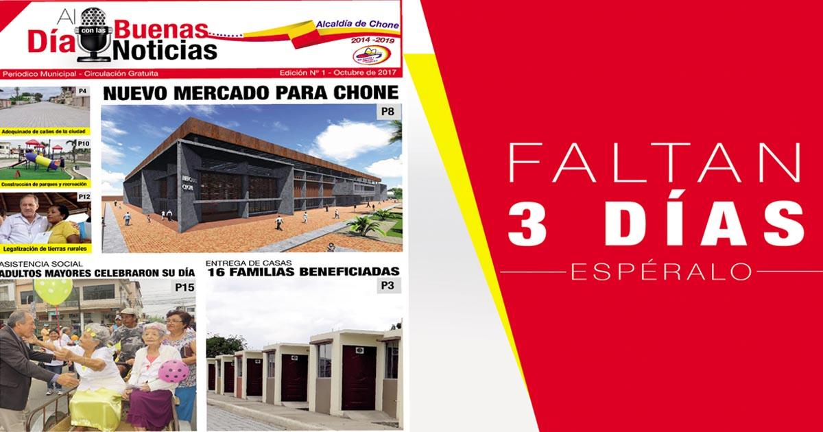 La Alcaldía lanzará su periódico oficial el próximo 23 de Octubre