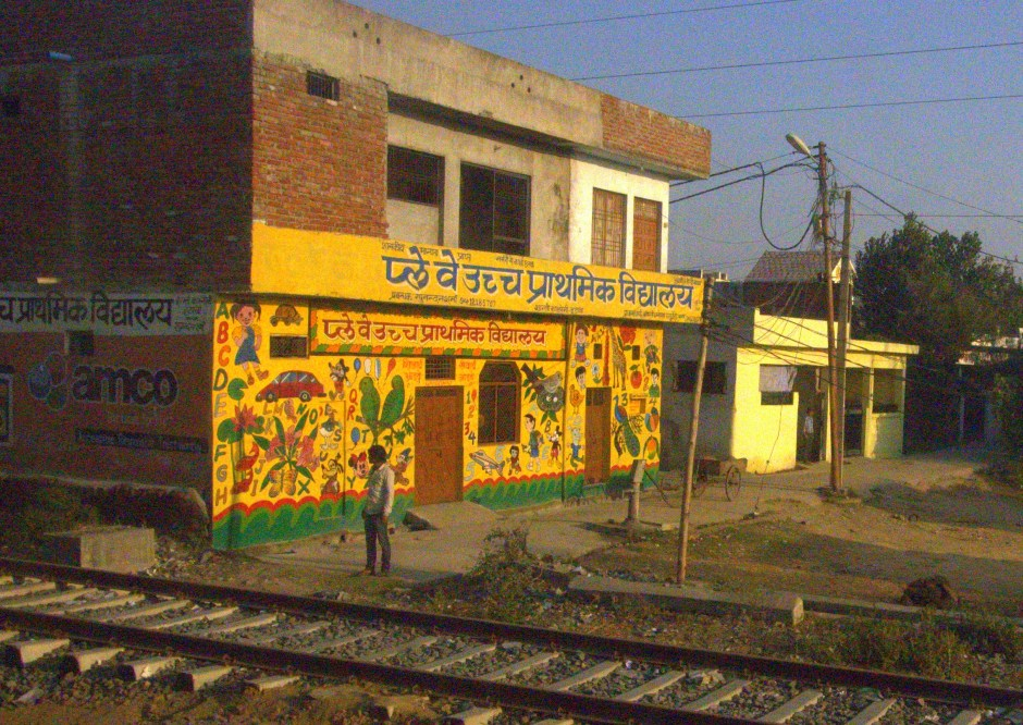Train journey into rural Rajasthan