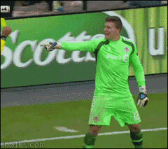 Goalkeeper perform miracle in ground. - Imgur