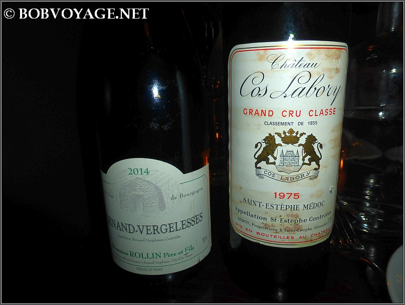 Remi Rollin Pernand Vergelesses Blanc 2014 and Cos Labory Saint Estephe 1975