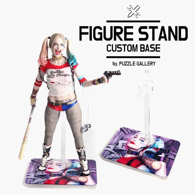 1//6 Scale Action Figure Photo Custom Base Display Stand Acrylic Type Rectangle
