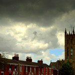 Storm clouds over St Marks Preston