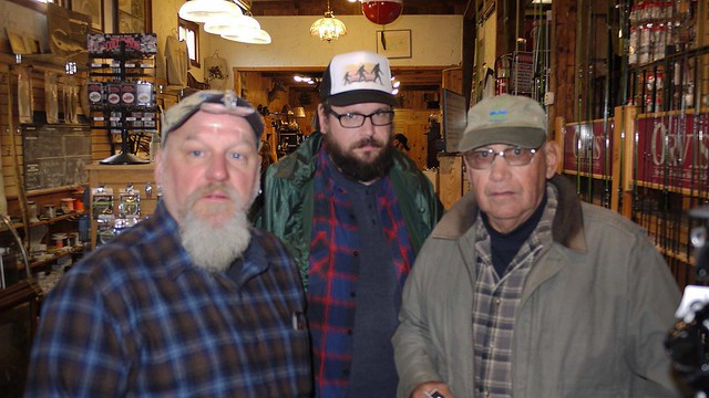 Alan, Andy and Jerry in Slate Run Store