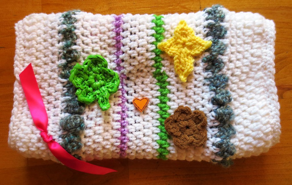 Crocheted Twiddle Muff My Recycled Bags