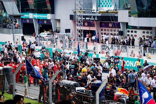 171028 マレーシアGP決勝レース直前グリッド