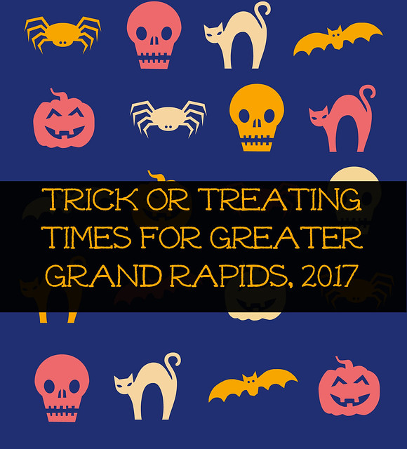 Kids Trick or Treating time for Greater Grand Rapids, MI