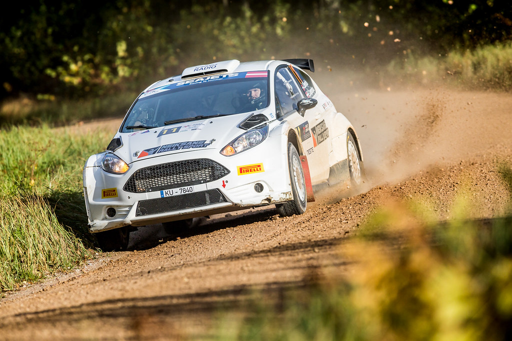 11 Berkis Janis and Ceporjus Edgars, Neiksans Rally Sport, Ford Fiesta R5 action during the 2017 European Rally Championship ERC Liepaja rally,  from october 6 to 8, at Liepaja, Lettonie - Photo Thomas Fenetre / DPPI