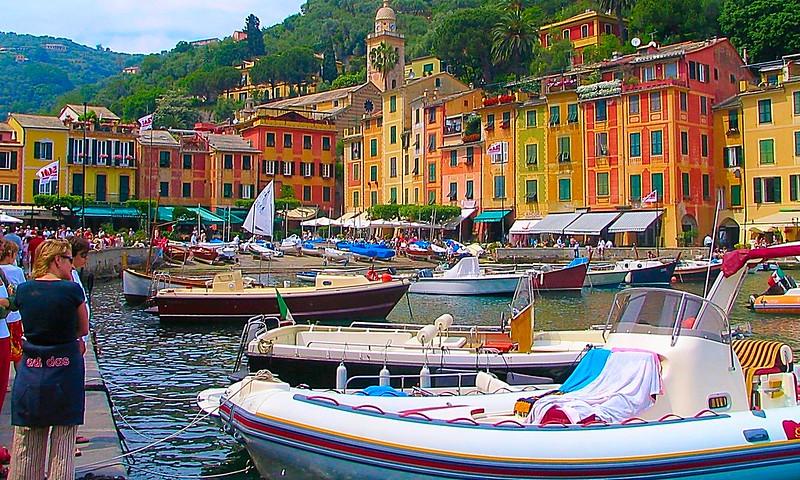 Portofino wealthy tourist holiday resort
