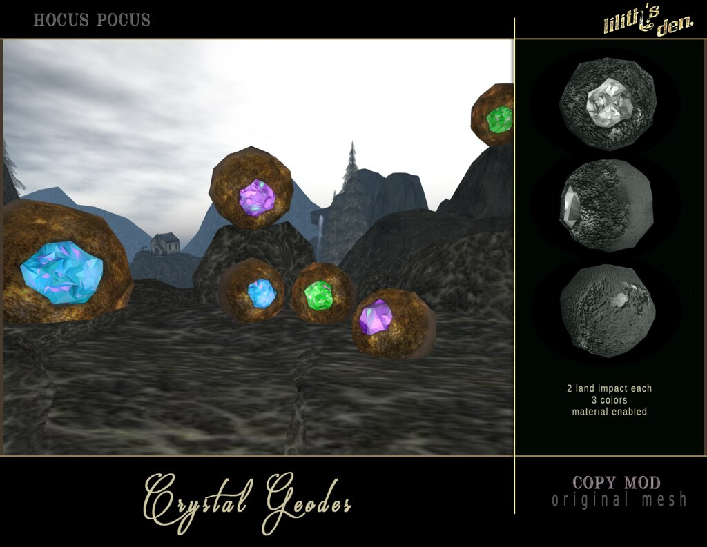 Lilith's Den -  Crystal Geodes - TeleportHub.com Live!