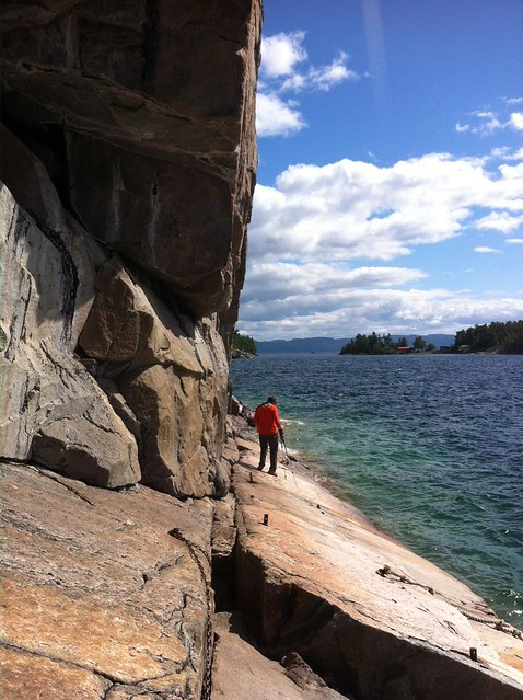 Lake Superior pictographs Pierre on the rock
