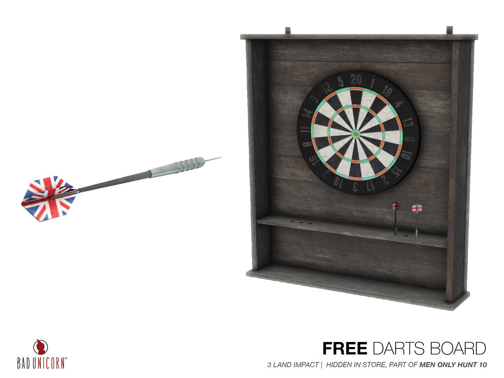 FREE! Darts Boards (Part of Mens Only Hunt 10) - TeleportHub.com Live!