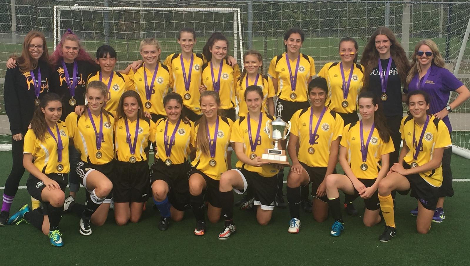 2017-18 Grade 9 Girls Soccer Champions: Ancaster Royals