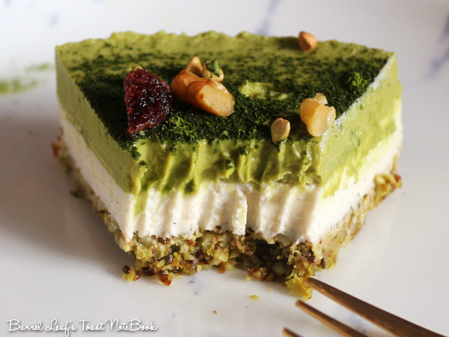 純素抹茶白巧克力派 Vegan Matcha Layered Pie
