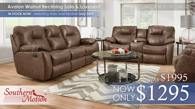 Avalon Walnut Reclining Set
