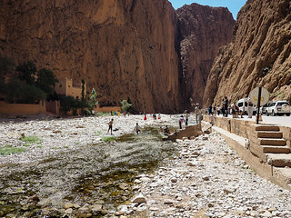 Inside the Todra Gorges in Morocco