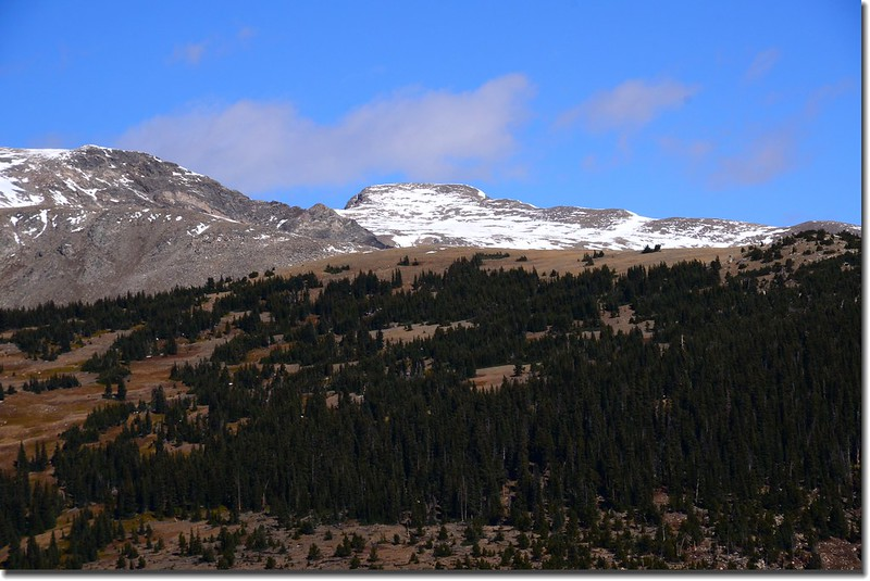 Looking Northwest at James Peak from Bill Moore Lake Trail near 11,185'