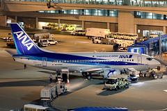 ANA Wings B737-500 JA307K at the gate at NGO/RJGG
