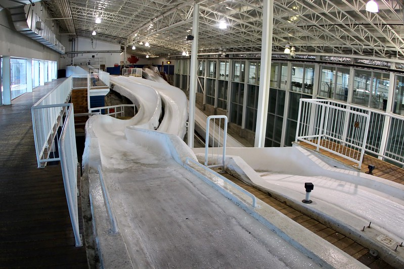 Bobsleigh indoor practice