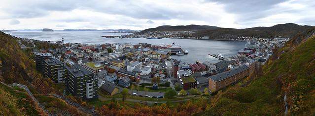 Hammerfest Hafenpanorama
