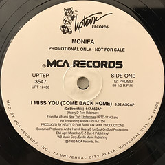 MONIFA:I MISS YOU(COME BACK HOME)(LABEL SIDE-A)
