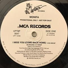 MONIFA:I MISS YOU(COME BACK HOME)(LABEL SIDE-A)