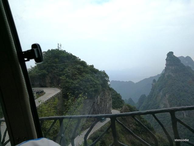 Tianmen Mountain roads